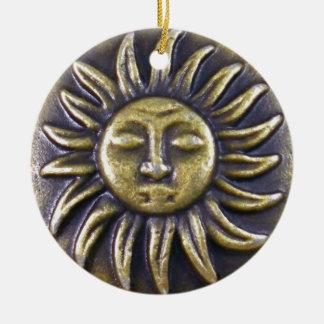 Ornamento De Cerâmica Medalhão de Sun