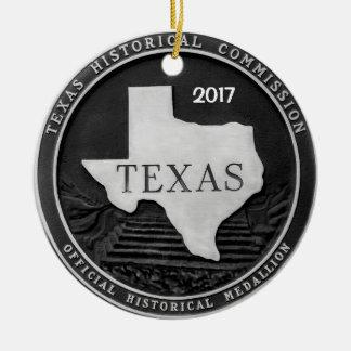 Ornamento De Cerâmica Medalhão histórico de Texas