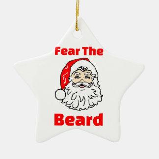 Ornamento De Cerâmica Medo engraçado a barba Papai Noel