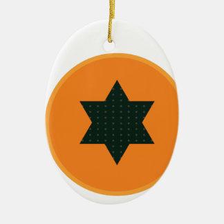 Ornamento De Cerâmica meia fruta da estrela