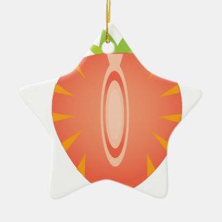 Ornamento De Cerâmica meia morango