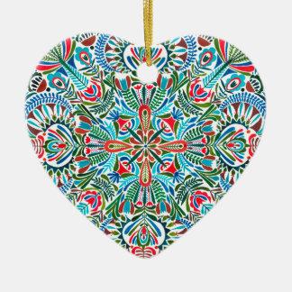 Ornamento De Cerâmica Meio da mandala da terra
