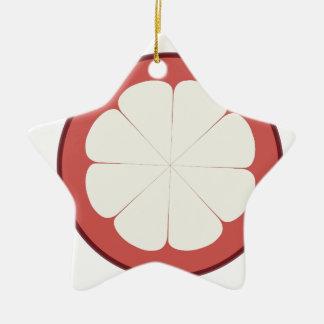 Ornamento De Cerâmica meio design da fruta