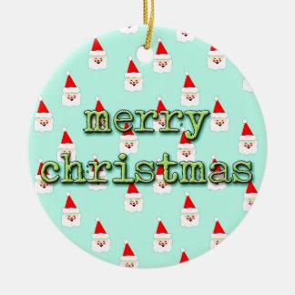 Ornamento De Cerâmica meio século Papai Noel moderno do Feliz Natal