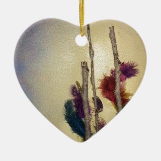 Ornamento De Cerâmica Meios mistos da árvore dos meios mistos