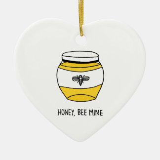 Ornamento De Cerâmica Mel, mina da abelha