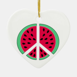 Ornamento De Cerâmica Melancia da paz