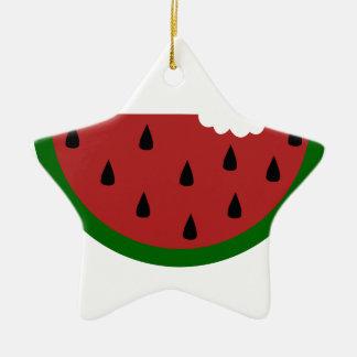 Ornamento De Cerâmica melancia mordida fruta da fatia da comida