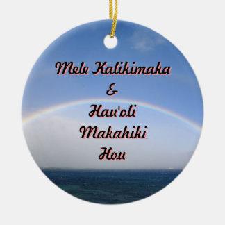 Ornamento De Cerâmica Mele Kalikimaka e feliz ano novo de Maui