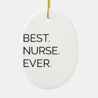 Ornamento De Cerâmica Melhor. Enfermeira. Nunca