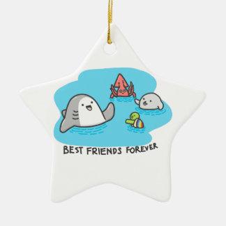 Ornamento De Cerâmica Melhores amigos para sempre!