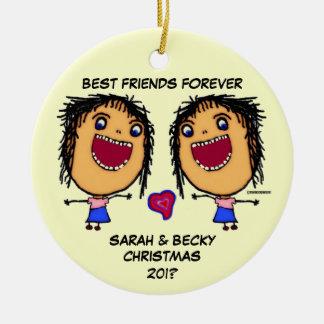 Ornamento De Cerâmica Melhores amigos para sempre