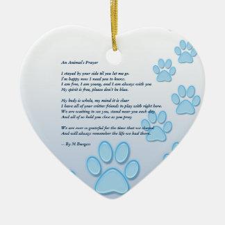 Ornamento De Cerâmica Memorial 2 do animal de estimação tomado partido -