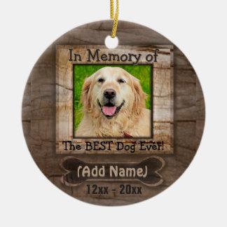 Ornamento De Cerâmica Memorial do cão