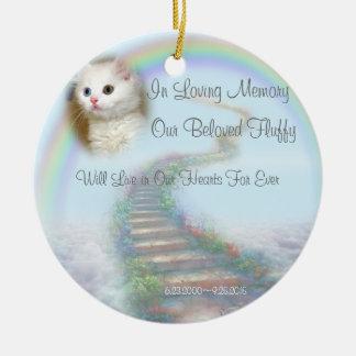 Ornamento De Cerâmica Memorial personalizado bonito do animal de
