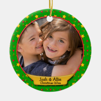 Ornamento De Cerâmica Memórias comemorativas do Natal • Corações &