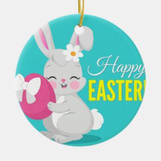 Ornamento De Cerâmica Menina bonito do coelho dos desenhos animados que