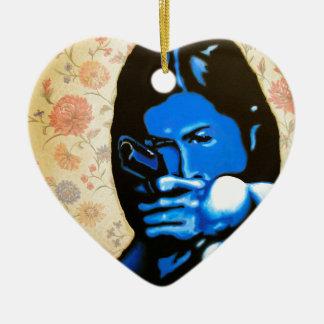 """Ornamento De Cerâmica """"Menina com duas armas"""" pelo Axel Bottenberg"""