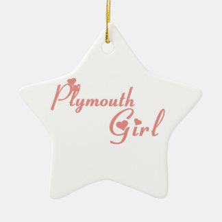 Ornamento De Cerâmica Menina de Plymouth