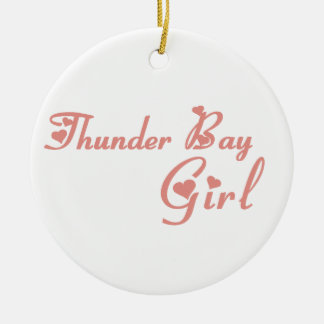 Ornamento De Cerâmica Menina de Thunder Bay
