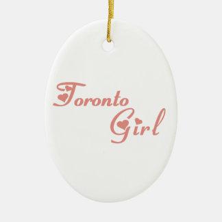 Ornamento De Cerâmica Menina de Toronto