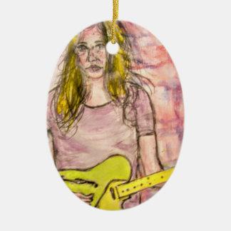 Ornamento De Cerâmica Menina do balancim