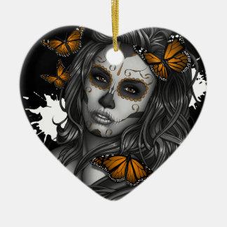 Ornamento De Cerâmica Menina do crânio do açúcar