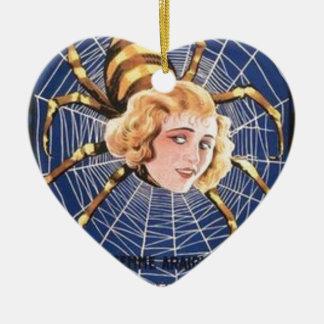 Ornamento De Cerâmica Menina francesa da aranha