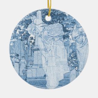 Ornamento De Cerâmica Meninas do fantasma que escapam a foto da arte do