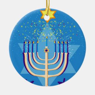 Ornamento De Cerâmica menorah de hanukkah