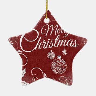 Ornamento De Cerâmica mensagem do Feliz Natal