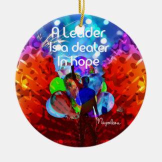 Ornamento De Cerâmica Mensagem do incentivo para a liderança