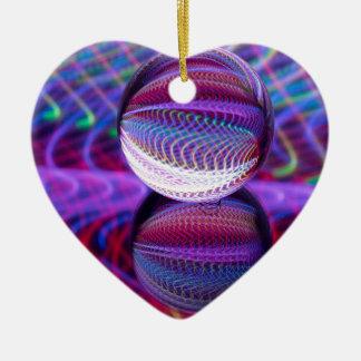 Ornamento De Cerâmica Mentiras na bola de cristal