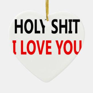 Ornamento De Cerâmica Merda santamente eu te amo (1)