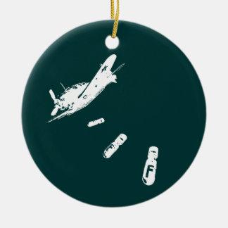 Ornamento De Cerâmica Mergulhador da F-Bomba (branco)