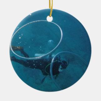 Ornamento De Cerâmica Mergulhador de mergulhador