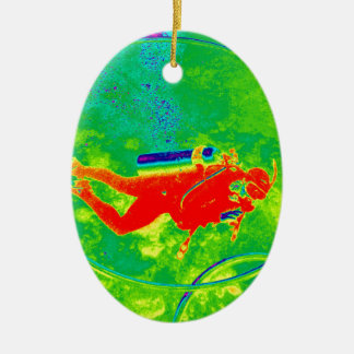 Ornamento De Cerâmica Mergulhador de mergulhador de Havaí