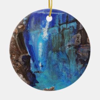 Ornamento De Cerâmica Mergulhador, debaixo de água, barranco, oceano,
