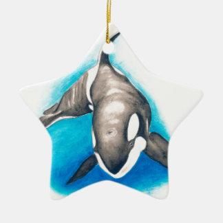 Ornamento De Cerâmica Mergulho profundo da orca