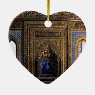 Ornamento De Cerâmica Mesquita o Cairo do palácio de Manial