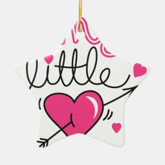 Ornamento De Cerâmica Meu pequeno, coração, miúdo, amor