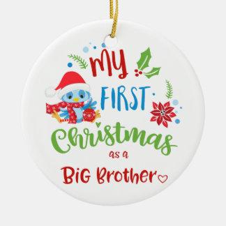 Ornamento De Cerâmica Meu primeiro Natal como uma foto/ano do big