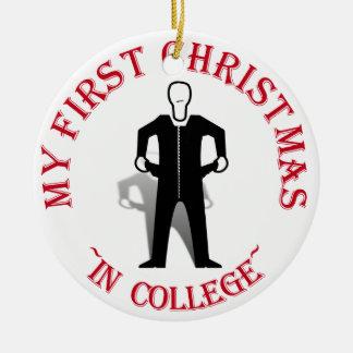 Ornamento De Cerâmica Meu primeiro Natal na faculdade