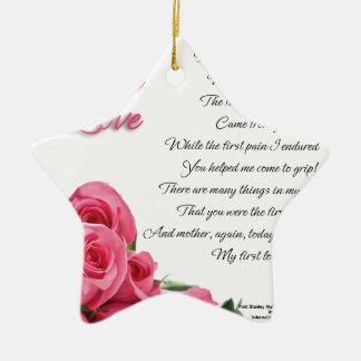Ornamento De Cerâmica Meu primeiro poema do amor