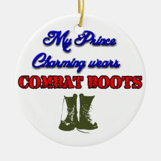 Ornamento De Cerâmica Meu príncipe encantar veste botas de combate,