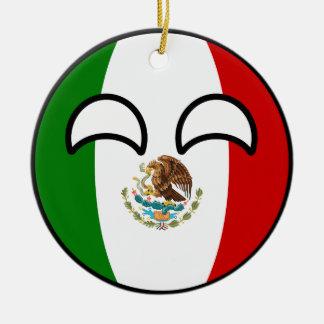 Ornamento De Cerâmica México Geeky de tensão engraçado Countryball