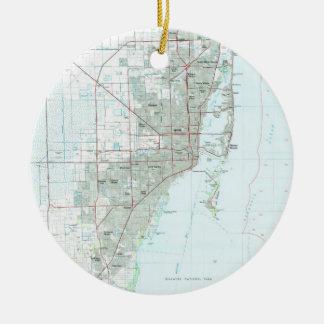 Ornamento De Cerâmica Miami Florida Mapa (1981)