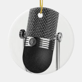 Ornamento De Cerâmica Microfone clássico