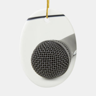 Ornamento De Cerâmica Microfone - conversa a mim