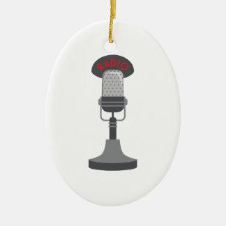 Ornamento De Cerâmica Microfone de rádio